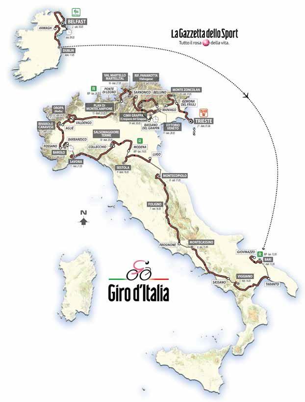 Streckenverlauf Giro d´Italia 2014