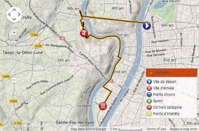 Streckenverlauf Critérium du Dauphiné 2014 - Etappe 1