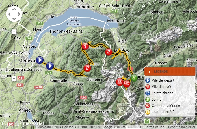 Streckenverlauf Critérium du Dauphiné 2014 - Etappe 7