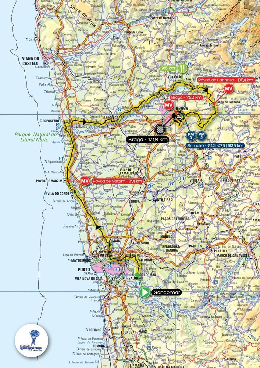 Streckenverlauf Volta a Portugal em Bicicleta Liberty Seguros 2014 - Etappe 2