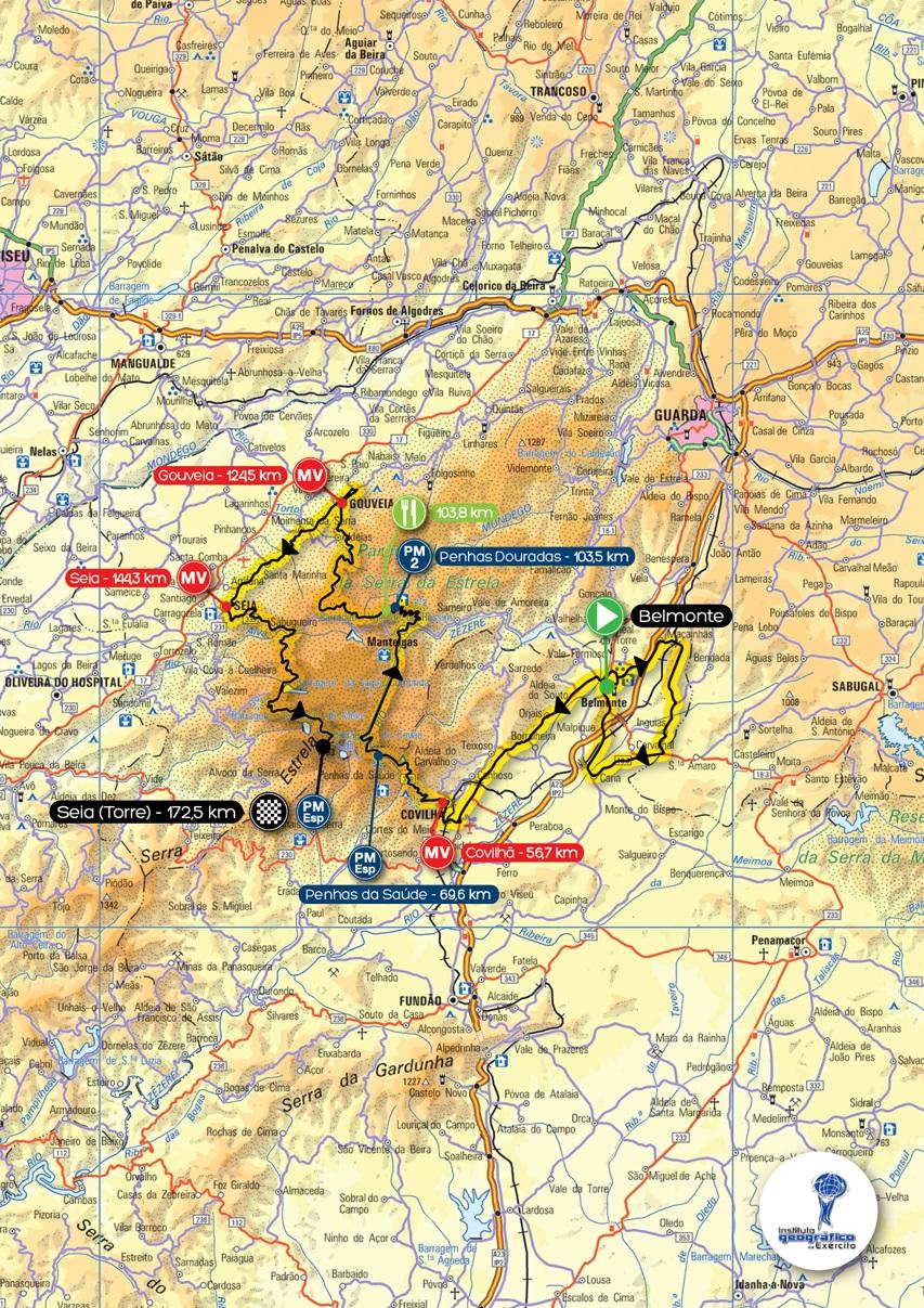 Streckenverlauf Volta a Portugal em Bicicleta Liberty Seguros 2014 - Etappe 7