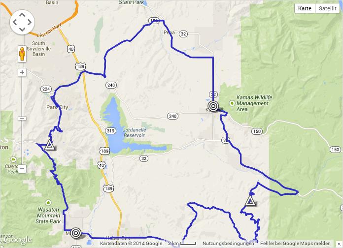 Streckenverlauf The Larry H. Miller Tour of Utah 2014 - Etappe 7