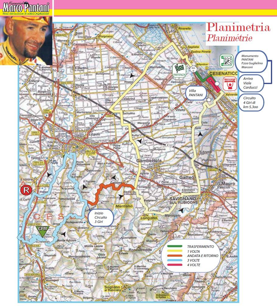 Streckenverlauf Memorial Marco Pantani 2014