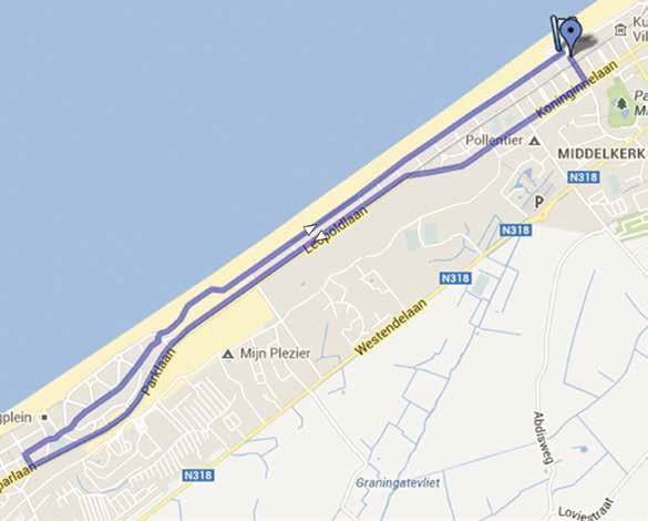 Streckenverlauf Driedaagse van West-Vlaanderen 2015 - Prolog