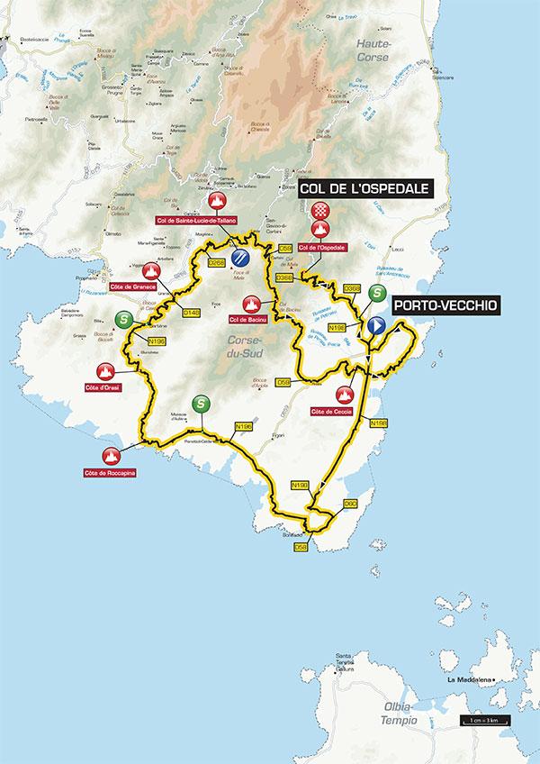 Streckenverlauf Critérium International 2015 - Etappe 3