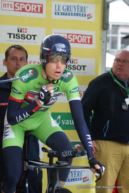 Jonathan Fumeaux trägt auch beim Einzelzeitfahren in Lausanne grün - diesmal aber nur stellvertretend