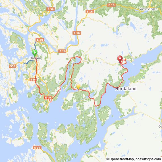 Streckenverlauf Tour des Fjords 2015 - Etappe 1