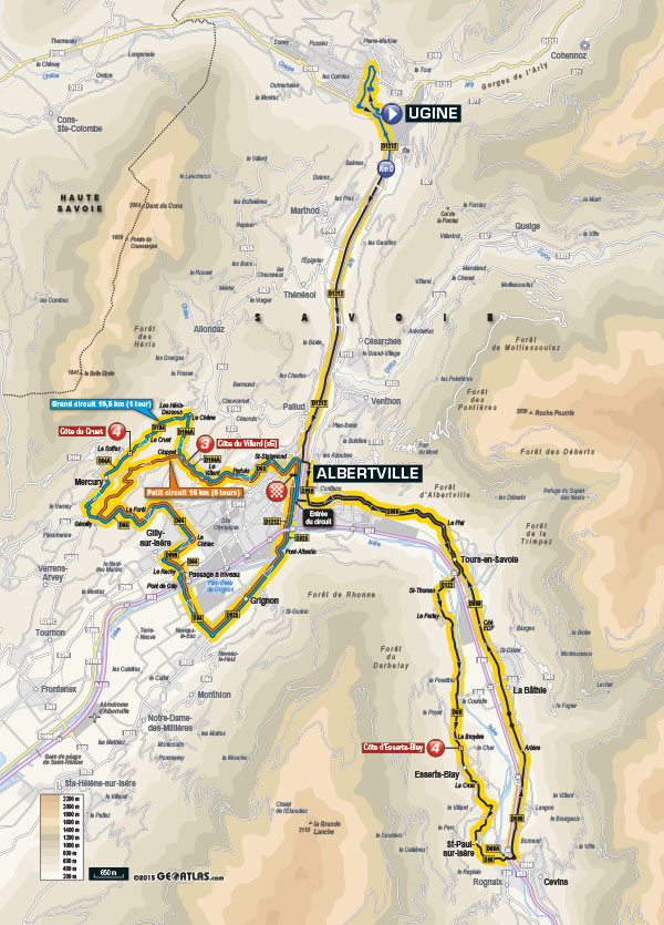 Streckenverlauf Critérium du Dauphiné 2015 - Etappe 1
