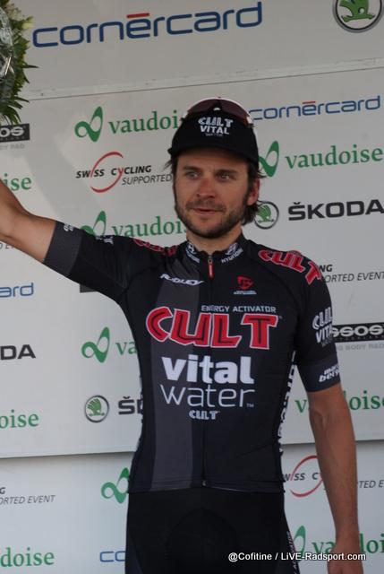 Martin Mortensen wird als kämpferischster Fahrer geehrt