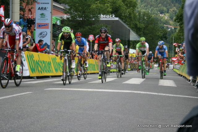 Sprint um die Plätze bei der 7. Etappe in Innsbruck