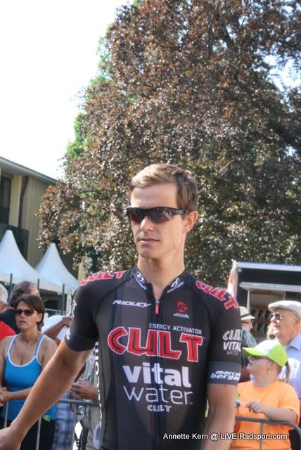 Linus Gerdemann vorm Start in Innsbruck