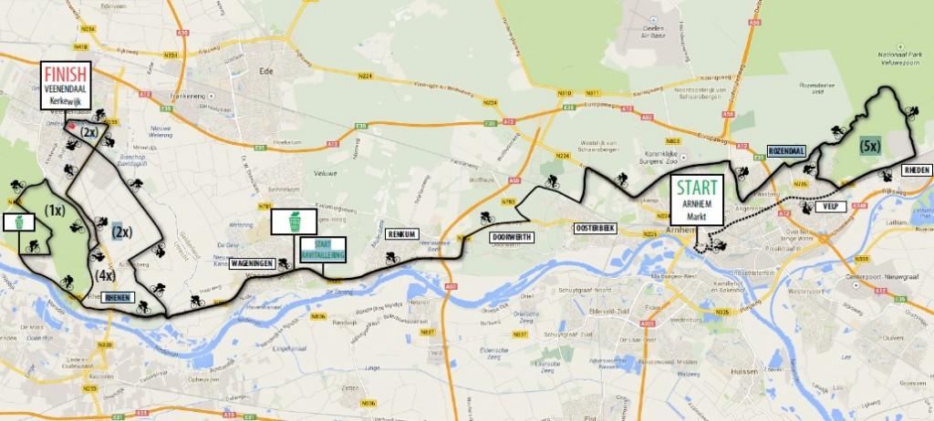 Streckenverlauf Arnhem-Veenendaal Classic 2015