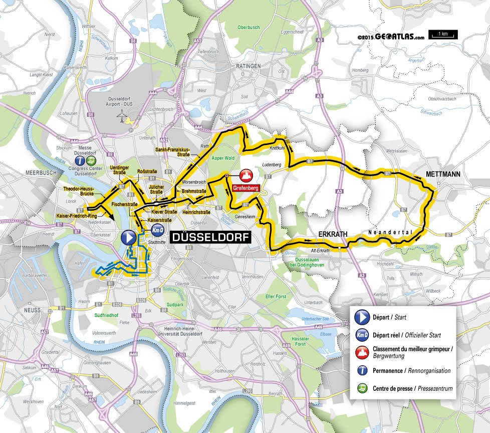 Tour De France  Stage  Route Map