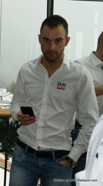 Matteo Pelucchi bei der IAM-Teampräsentation 2016