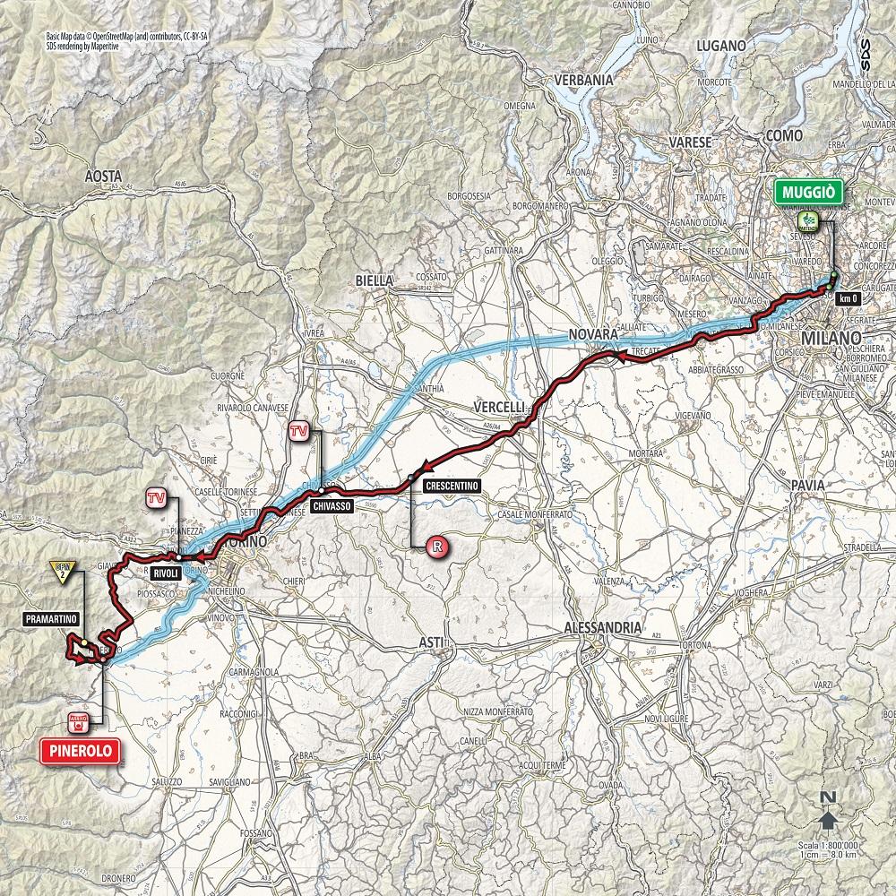 Streckenverlauf Giro d'Italia 2016 - Etappe 18