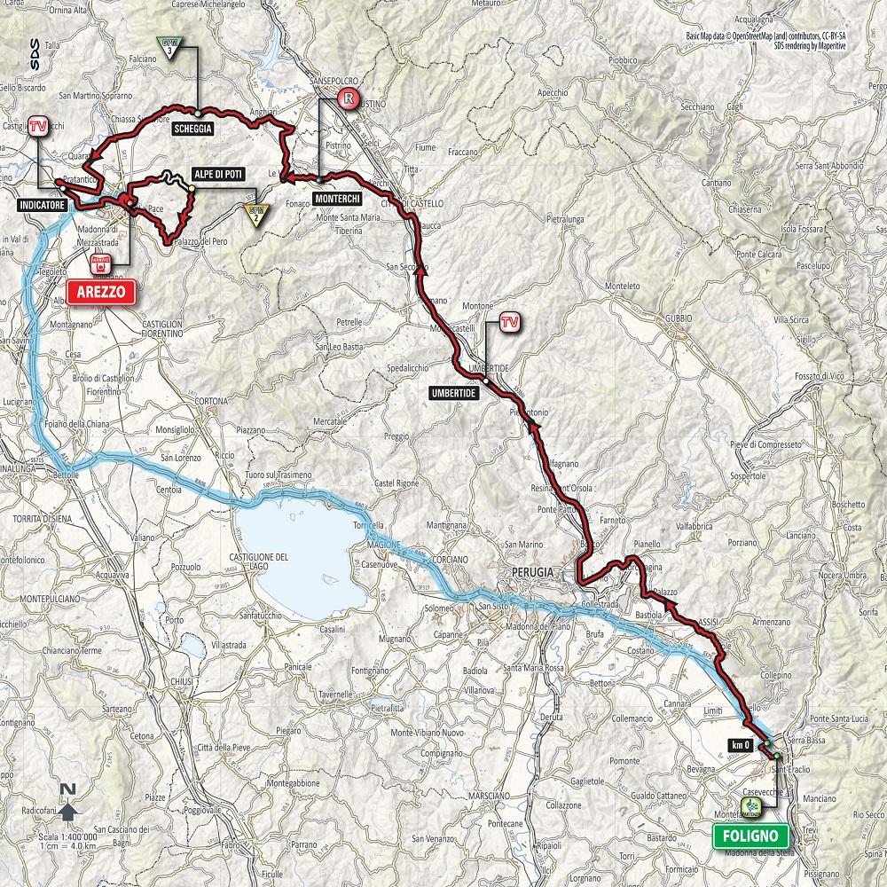 Streckenverlauf Giro d'Italia 2016 - Etappe 8