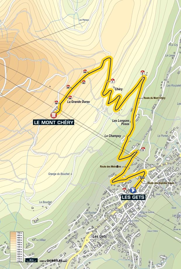Streckenverlauf Critérium du Dauphiné 2016 - Prolog