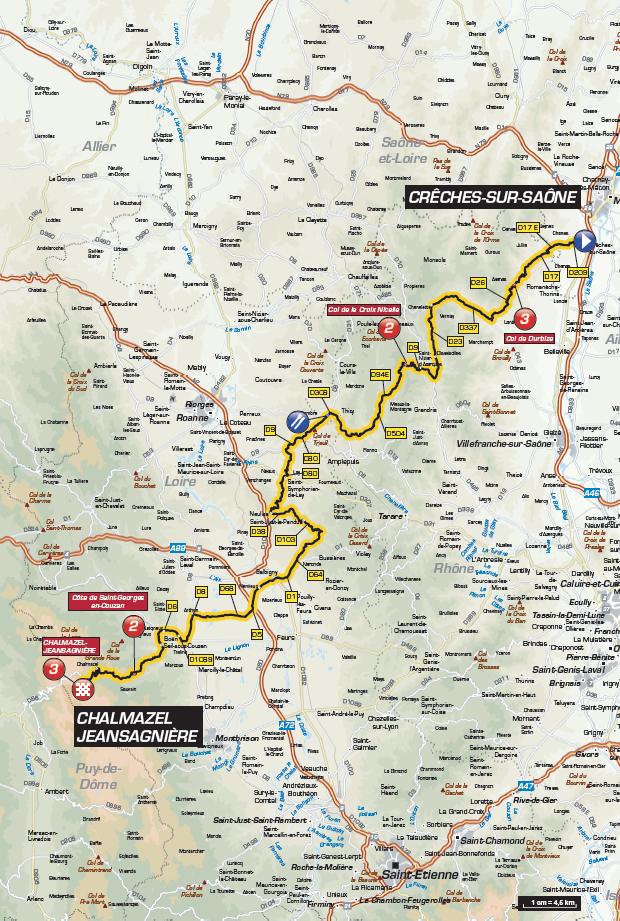 Streckenverlauf Critérium du Dauphiné 2016 - Etappe 2
