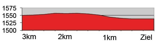 Höhenprofil Tour de Suisse 2016 - Etappe 9, letzte 3 km