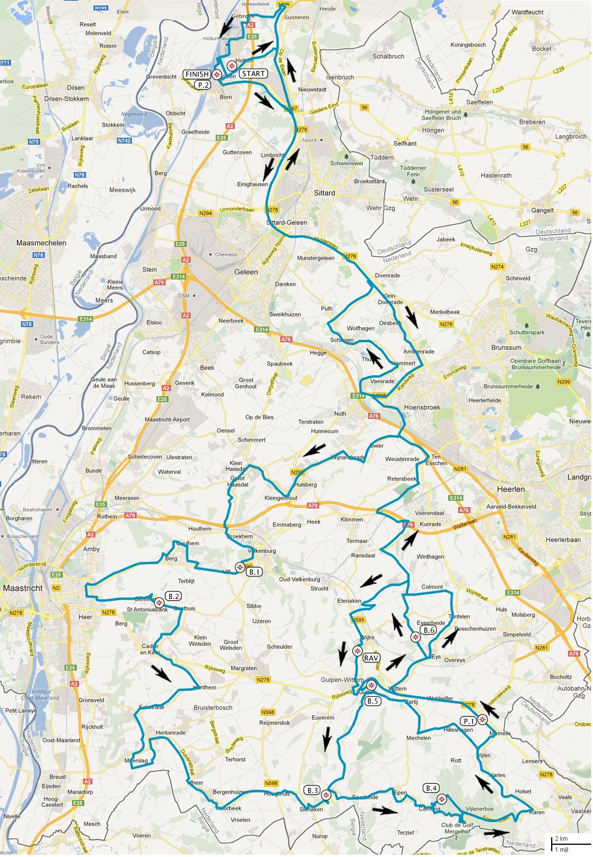 Streckenverlauf Ster ZLM Toer GP Jan van Heeswijk 2016 - Etappe 3