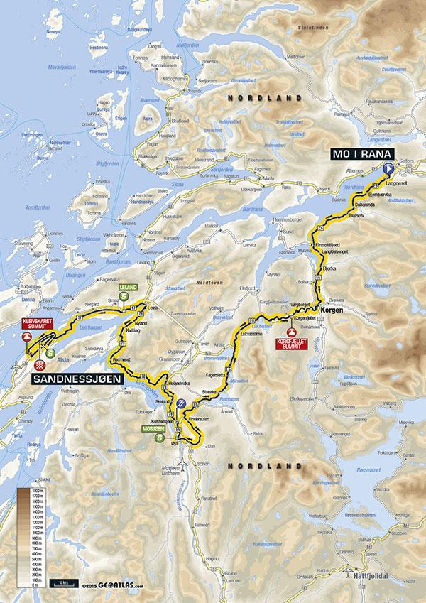 Streckenverlauf Arctic Race of Norway 2016 - Etappe 2