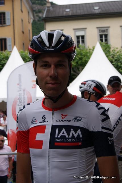 Jonathan Fumeaux im Trikot seines Teams IAM Cycling