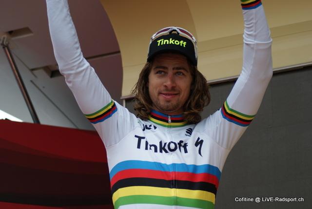 Peter Sagan im Regenbogentrikot