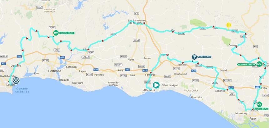Streckenverlauf Volta ao Algarve em Bicicleta 2017 - Etappe 1