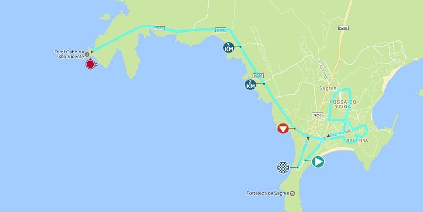 Streckenverlauf Volta ao Algarve em Bicicleta 2017 - Etappe 3