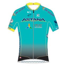 Trikot Astana Pro Team (AST) 2017 (Bild: UCI)