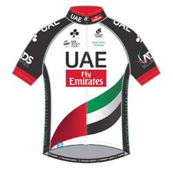 Trikot UAE Team Emirates (UAD) 2017 (Bild: UCI)