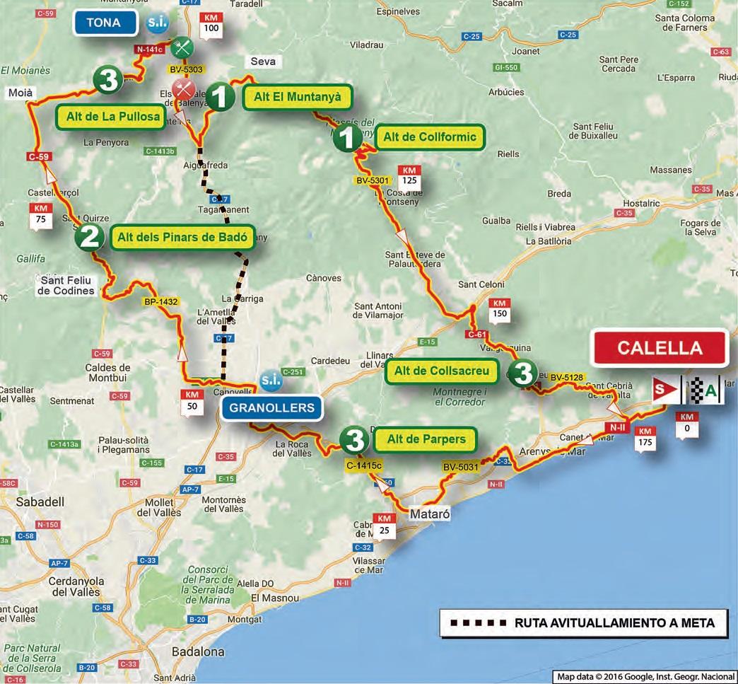Streckenverlauf Volta Ciclista a Catalunya 2017 - Etappe 1
