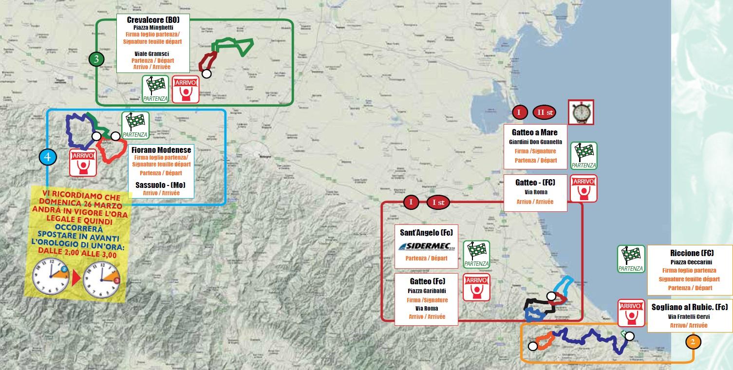 Streckenverlauf Settimana Internazionale Coppi e Bartali 2017