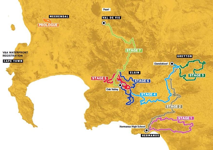 Streckenverlauf Absa Cape Epic 2017