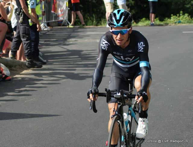 der Sieger von Paris - Nizza 2017 Sergio Luis Henao beim Bergzeitfahren der Tour de France 2016