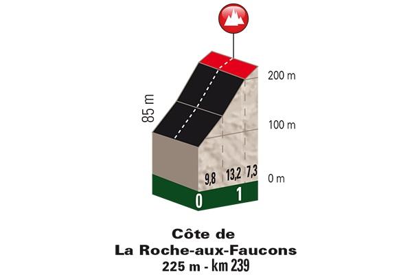 Höhenprofil Liège - Bastogne - Liège 2017, Côte de La Roche-aux-Faucons