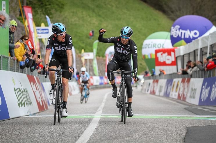 Die Sky-Teamkollegen Geraint Thomas und Mikel Landa (Foto: Josef Vaishar)