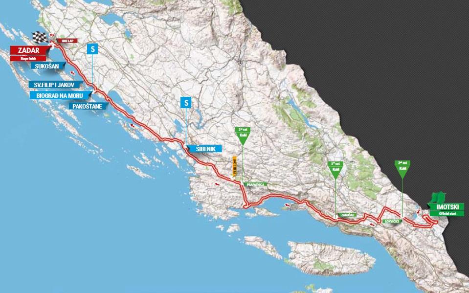 Streckenverlauf Tour of Croatia 2017 - Etappe 3