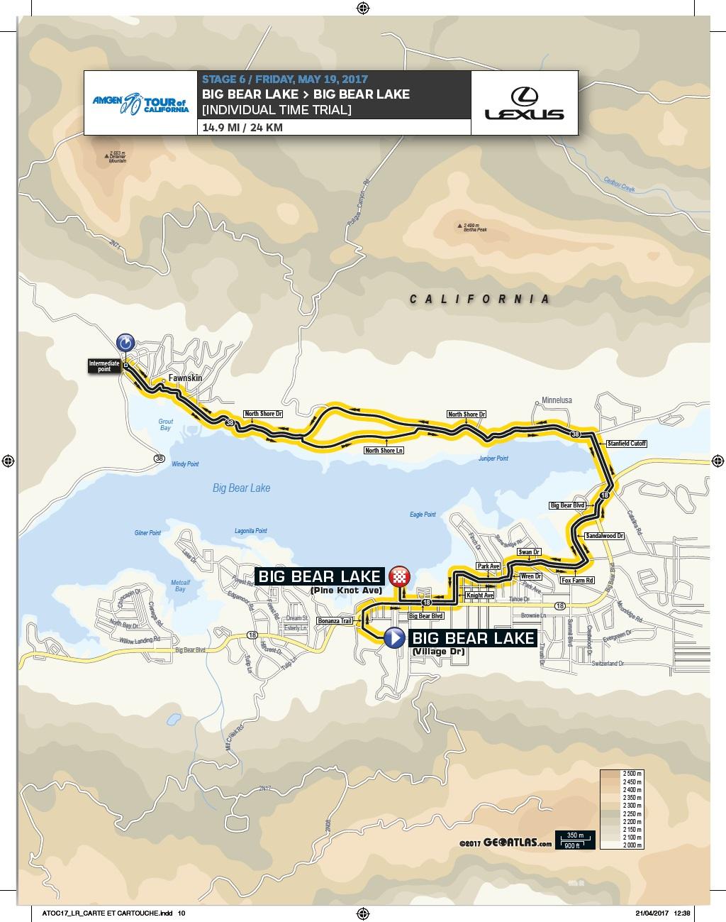 Streckenverlauf Amgen Tour of California 2017 - Etappe 6