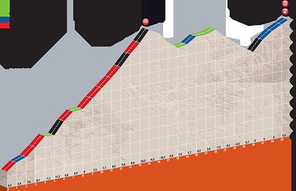 Höhenprofil Critérium du Dauphiné 2017 - Etappe 7, Col de Sarenne und Alpe d'Huez