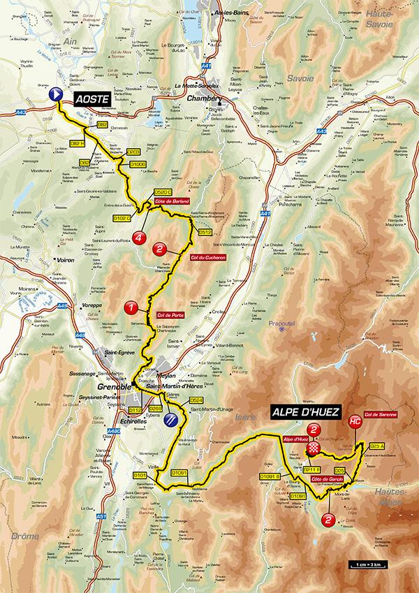 Streckenverlauf Critérium du Dauphiné 2017 - Etappe 7