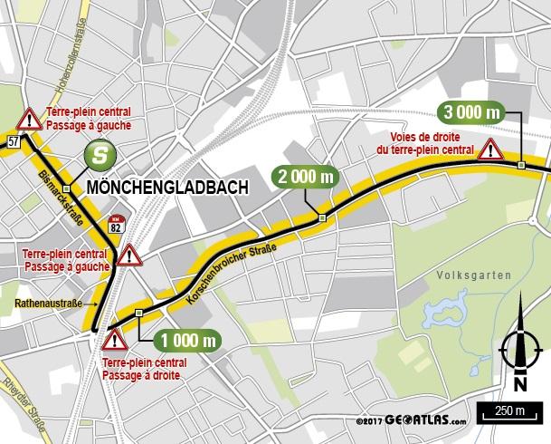 Streckenverlauf Tour De France 2017 Etappe 2 Zwischensprint
