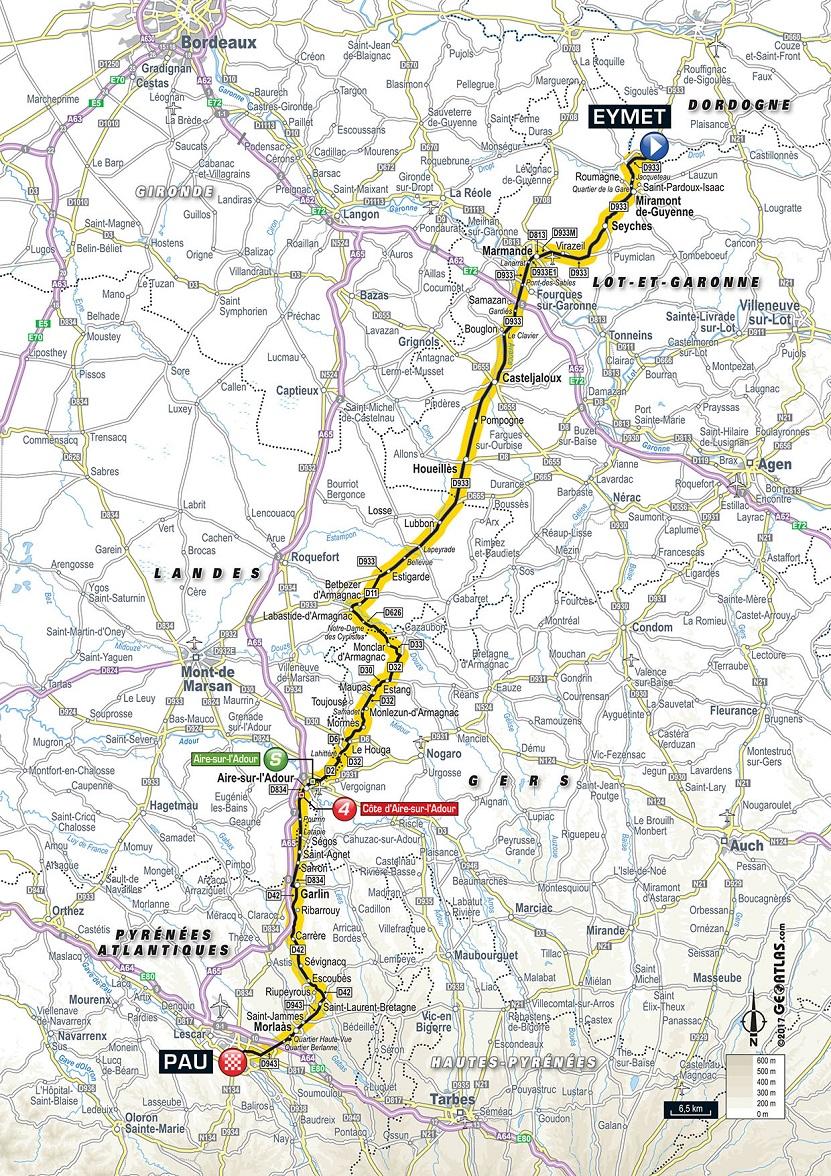 Streckenverlauf Tour De France 2017 Etappe 11