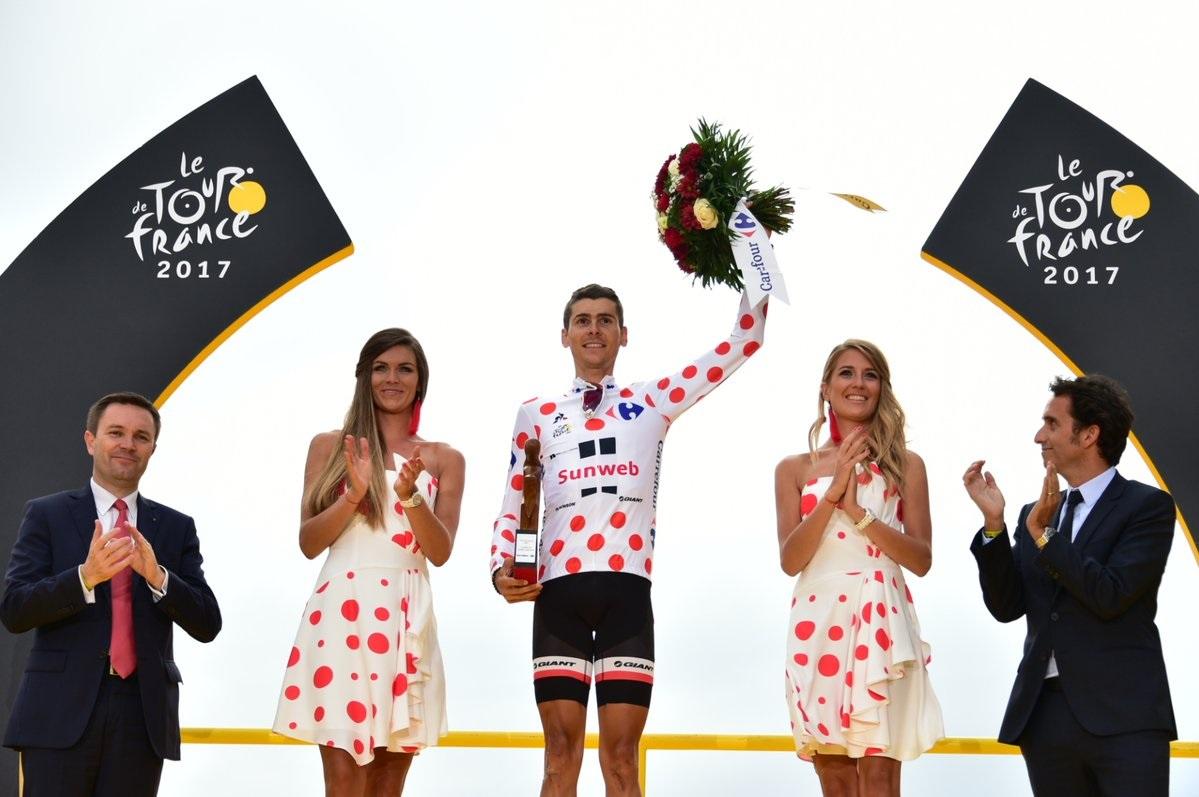 Warren Barguil im Bergtrikot der Tour de France 2017 (Foto: Twitter @LeTour)