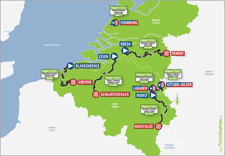 Streckenverlauf Binck Bank Tour 2017