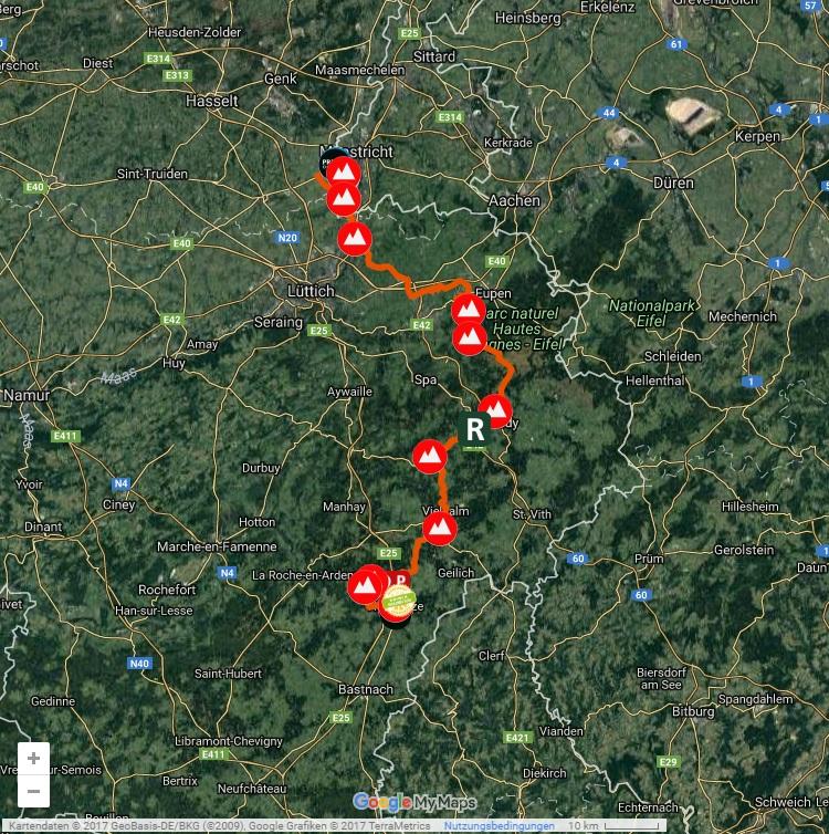 Streckenverlauf Binck Bank Tour 2017 - Etappe 6