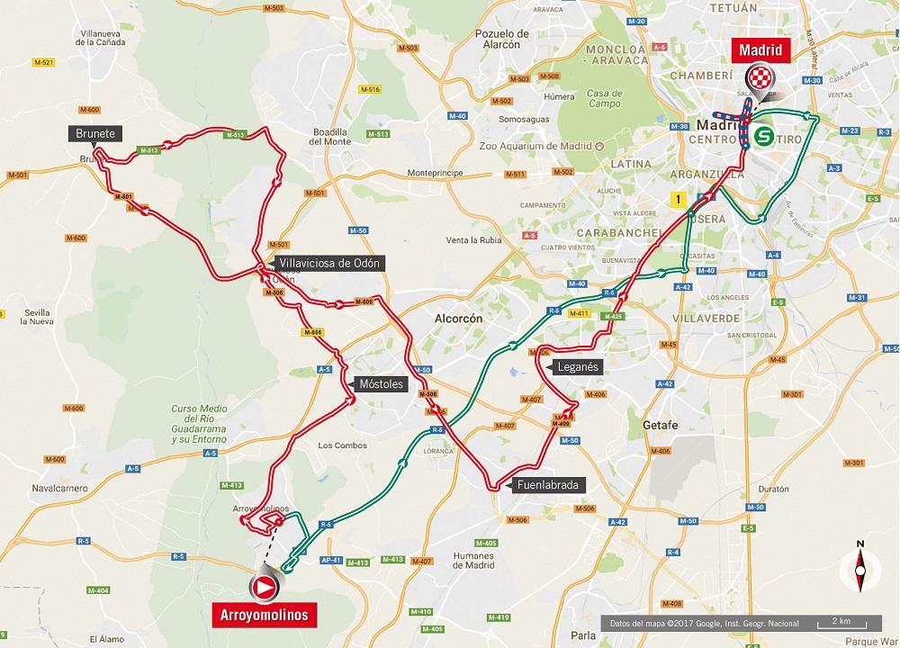 Streckenverlauf Vuelta a España 2017 - Etappe 21