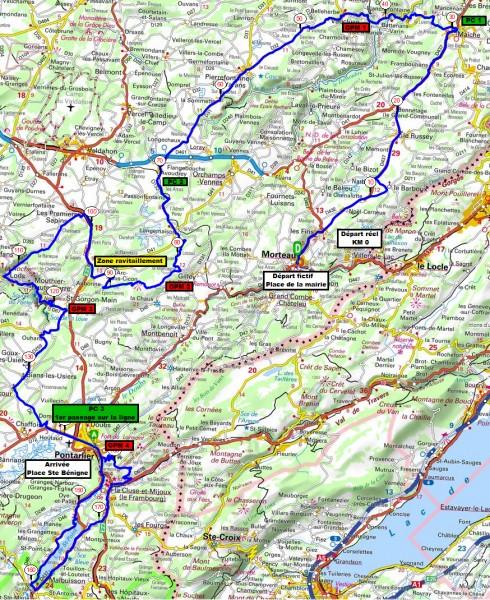 Streckenverlauf Tour du Doubs 2017