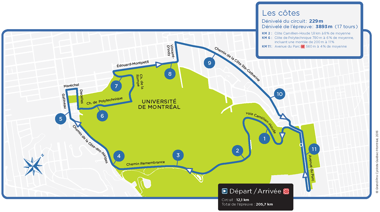 Streckenverlauf Grand Prix Cycliste de Montréal 2017