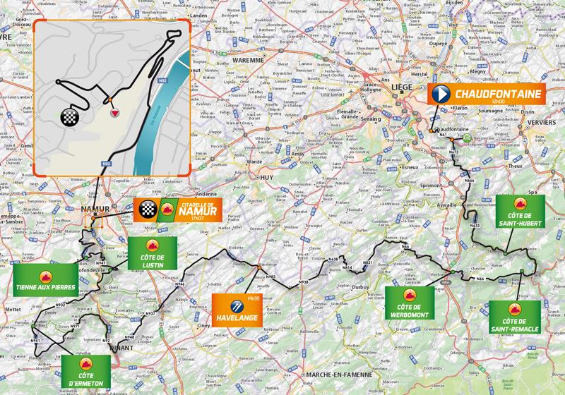 Streckenverlauf Grand Prix de Wallonie 2017